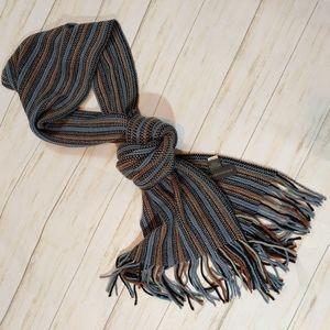 BANANA REPUBLIC Wool Striped Fringe Scarf